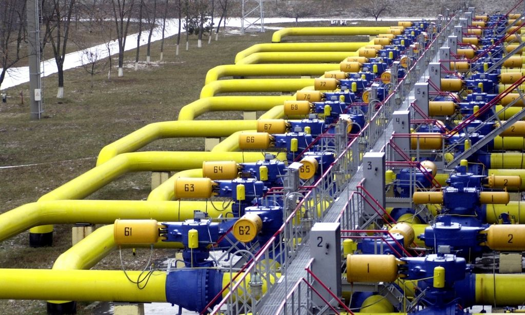 ** FILE **  This is a  Tuesday, Jan. 3, 2006, file photo of pipes  seen  in a gas storage and transit point in Boyarka, just outside Kiev. In the cold war between Russia and Ukraine over gas shipments to Europe, the grand prize may be control of Ukraine's sprawling pipeline network, Moscow's main conduit for pumping the fuel to its most lucrative markets. Ukraine's pipelines remain Kiev's only leverage in a dispute that threatens to shatter the reputations of both Russia and Ukraine as reliable energy partners, and poison relations between the neighbors for the foreseeable future.  (AP Photo/Sergei Chuzavkov)